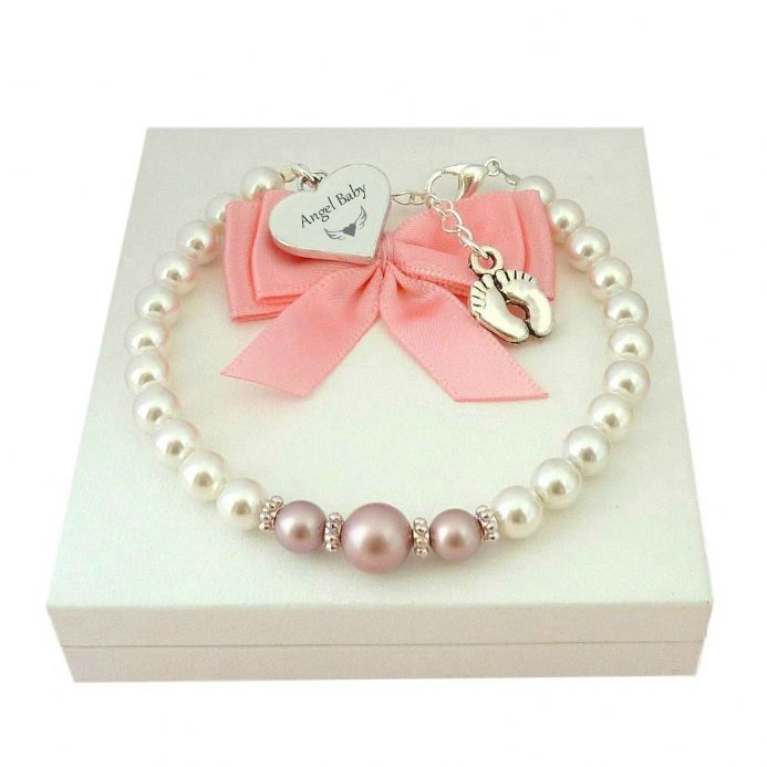 Angel Baby Bracelet for Loss of Baby Girl | Someone Remembered